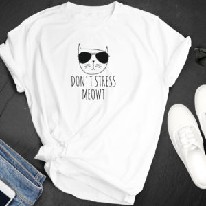 Don't Stress Meowt Shirt, Funny Cat Shirts, Cat Lover Shirt, Meow TShirt, Christmas Gift, Cat T Shirt