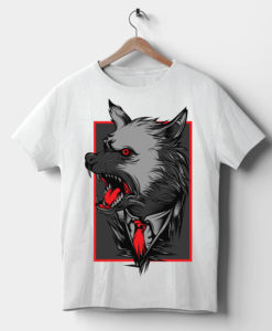 Angry Wolf T Shirt