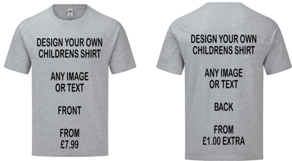 design your own childrens t shirt