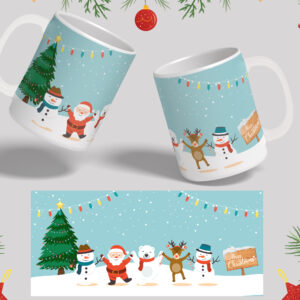 Santa and Friends Xmas Mug